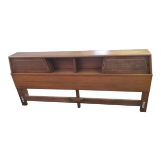 Mid Century Modern Walnut King Size Headboard For Sale