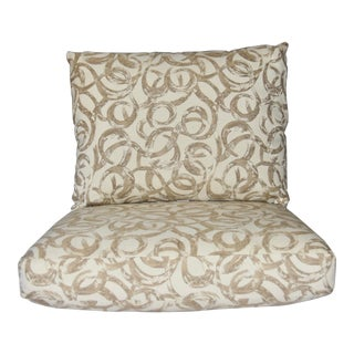 Sunbrella Lloyd Flanders Replacement Cushions- 2 Pieces For Sale