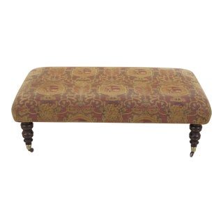 English Style Large Turned Leg Bench For Sale