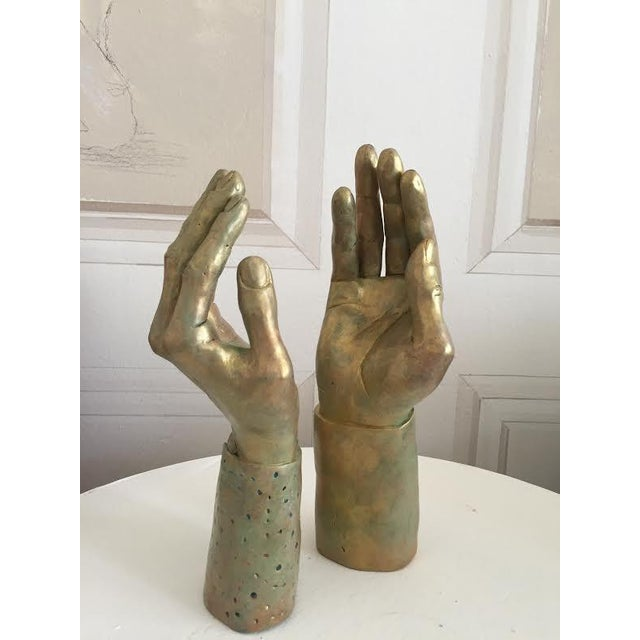 Sculptural Hand-Made Hands - Pair - Image 8 of 9