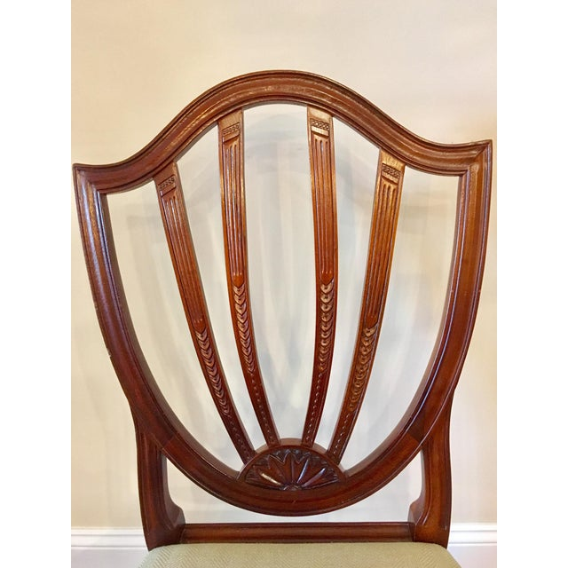 Baker Shield Back Mahogany Dining Chairs - Set of 6 For Sale In Charlotte - Image 6 of 10