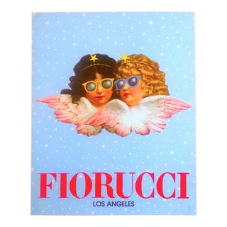 Vintage 1980 Rare Fiorucci New Wave Italian Fashion Iconic Cherub Angels Post Modern Pop Art Poster For Sale