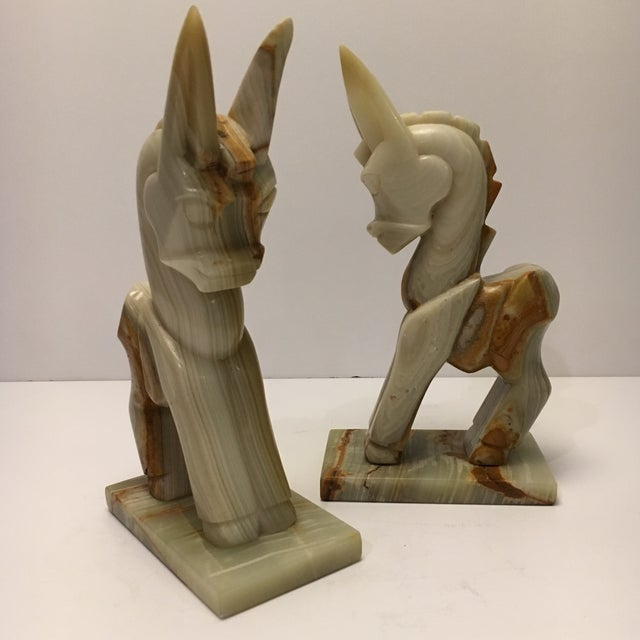 Vintage Marble Donkey Bookends - A Pair - Image 7 of 7