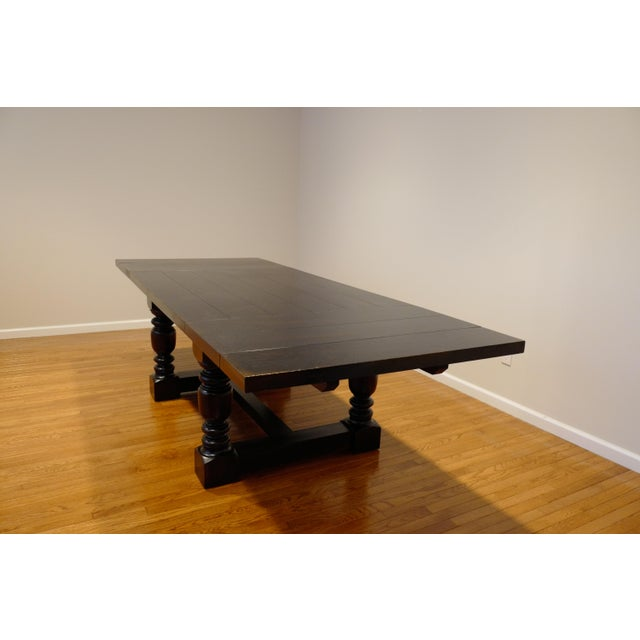French 1930s Farmhouse Rectangular Extension Dining Table For Sale