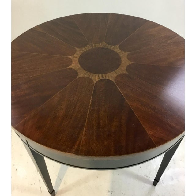 Vintage 1970 S Baker Wood Inlay End Table Center Table