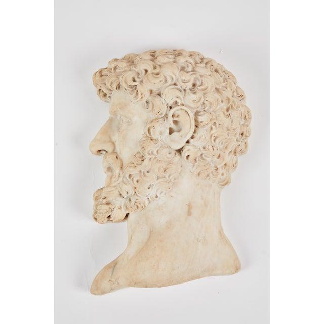 "19th C. Italian ""Lucius Verus"" Roman Emperor Marble Relief For Sale In Los Angeles - Image 6 of 6"