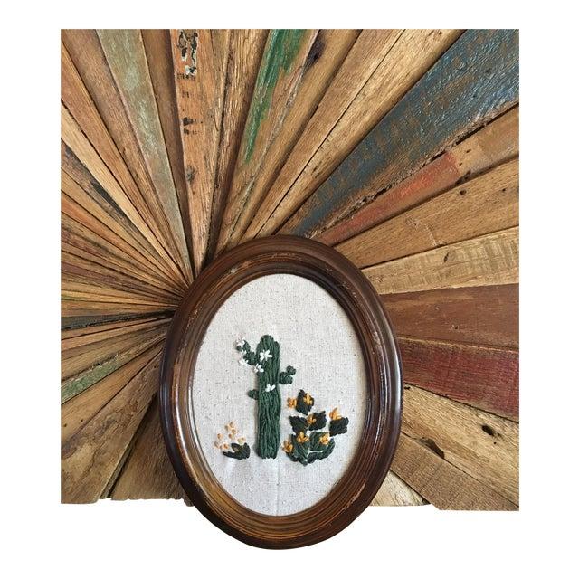 Framed Boho Chic Cactus Embroidery - Image 5 of 5