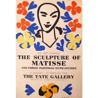 1953 Original Matisse Exhibition Poster For Sale