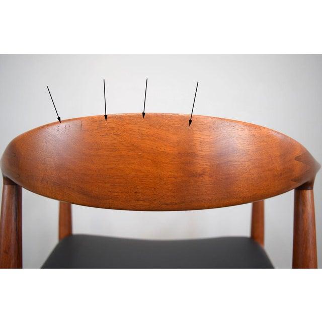 Early Hans Wegner for Johannes Hansen Jh-503 'The Chair' in Teak & Leather For Sale - Image 11 of 13