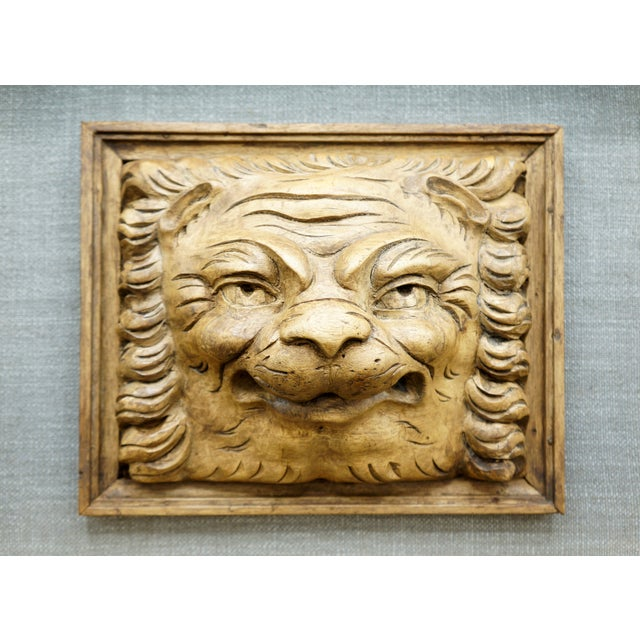 19th Century 19th Century Framed Lion Head Fragment For Sale - Image 5 of 7