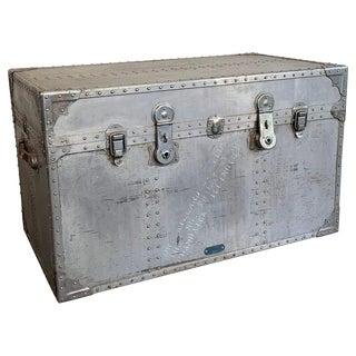 1940s Industrial Aluminum Military Trunk