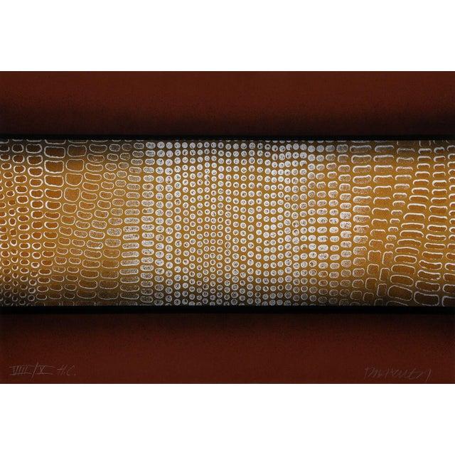 "Paul Maxwell ""Snake Skin (Brown)"" Serigraph - Image 2 of 2"