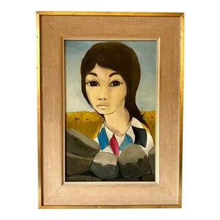 Portrait by Jean Pierre Serrier, 1960 For Sale
