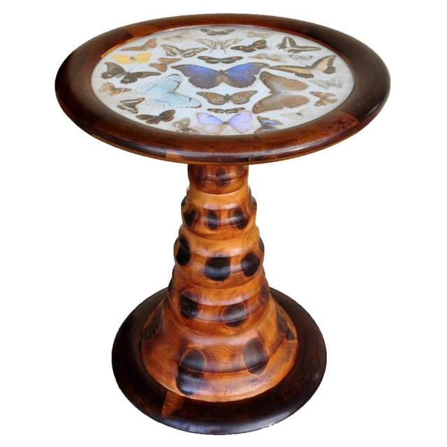 Brazilian Butterfly Table With Monkey Puzzle Wood Base For Sale - Image 11 of 11