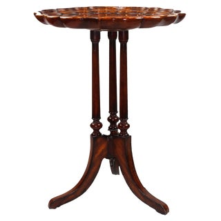 Pasargad N Y Georgian Mahogany Tripod Occasional Table For Sale