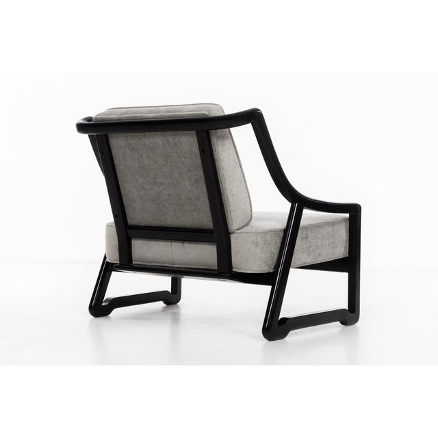Black Pair of Paul Laszlo Attributed Lounge Chairs For Sale - Image 8 of 10