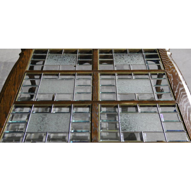 Gorgeous French Provincial Coffee Table With Authentic Leaded - Glass floor panels for sale