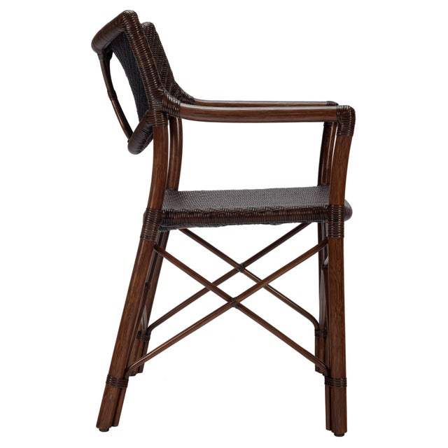 Selamat Designs Henny Cinnamon Rattan Arm Chair - Image 2 of 3