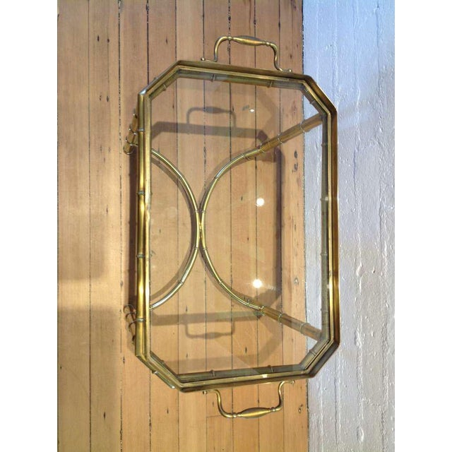 1960s Mastercraft Brass Tray Table For Sale - Image 5 of 6