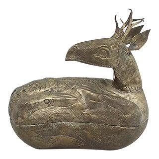 1960s Figural Deer Box For Sale
