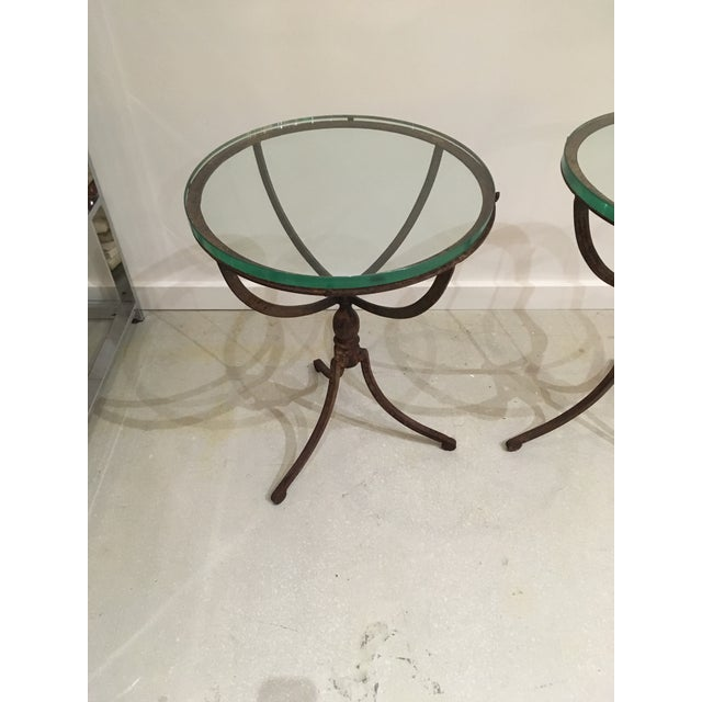 20th Century Shabby Chic Iron Accent Tables - a Pair For Sale In West Palm - Image 6 of 10