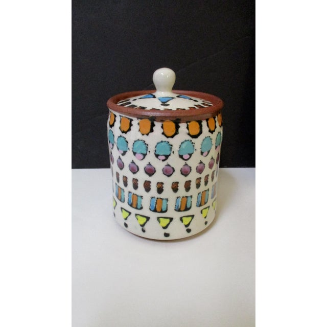 Hand Painted Italian Ceramic Canisters - Set of 4 For Sale - Image 9 of 11