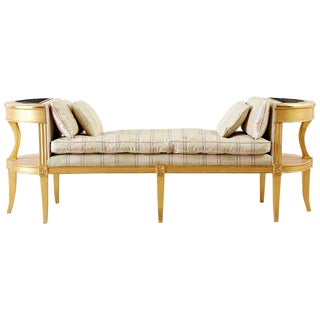 French Directoire Style Giltwood Window Bench Seat For Sale