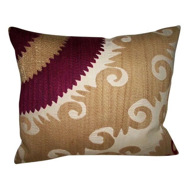 Vintage Gulkurpa Suzani Pillow - Image 1 of 2