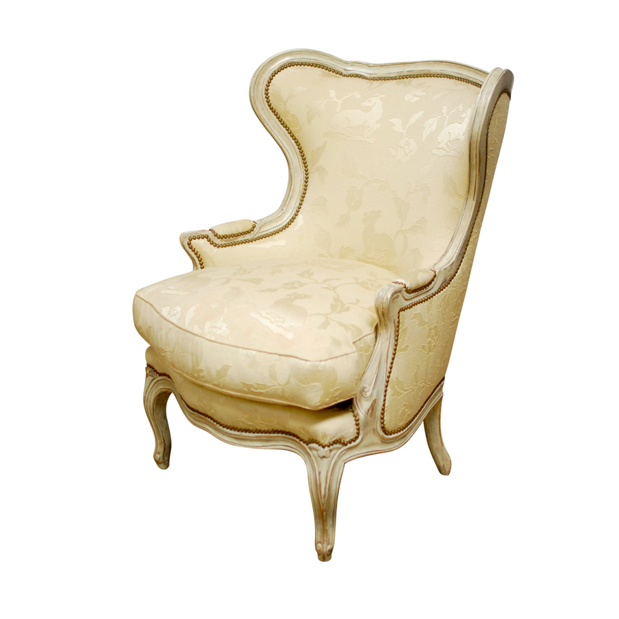 Incroyable Louis XV Wingback Bergere Chair And Ottoman