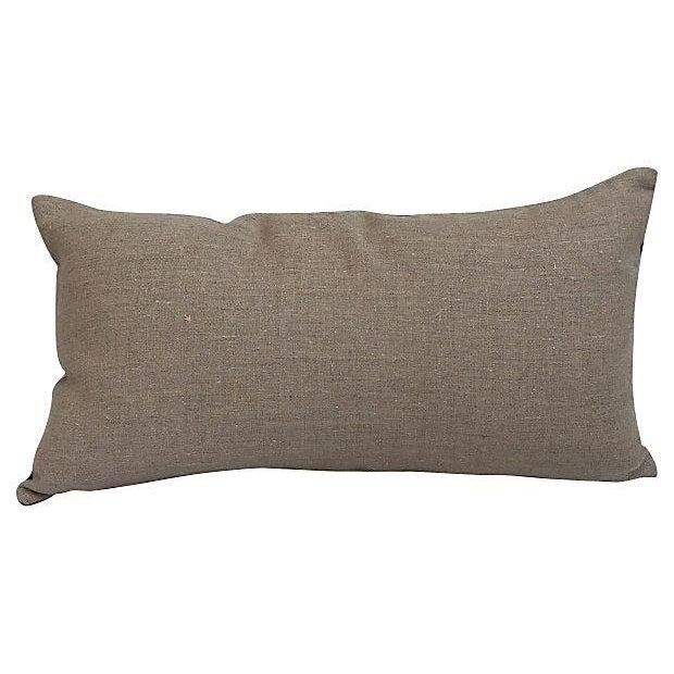 Asian Embroirered Koi Fish Jade Silk Pillow - Image 2 of 5