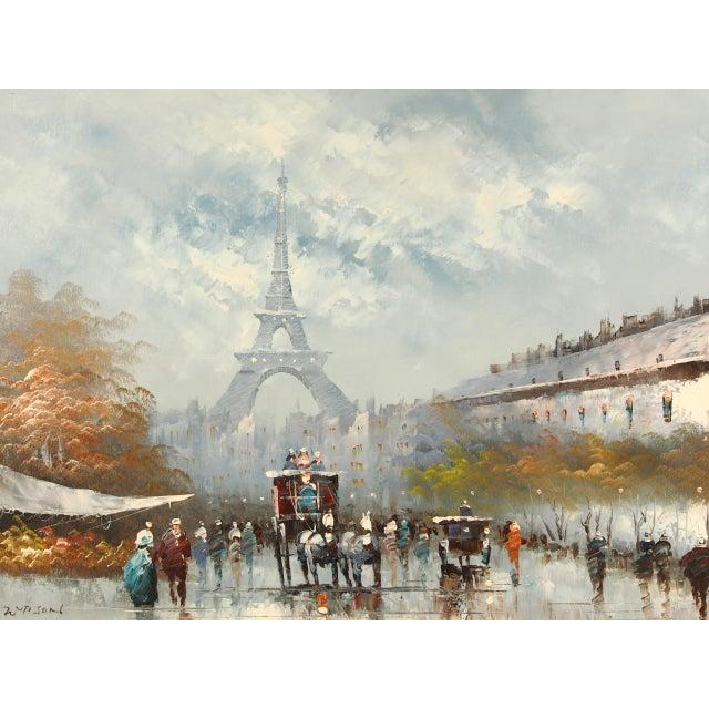 Contemporary Paris City Street Original Oil Painting For Sale - Image 3 of 8