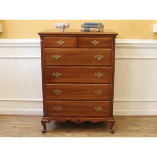 Vintage Mahogany Tall Chest of Drawers Dresser Preview