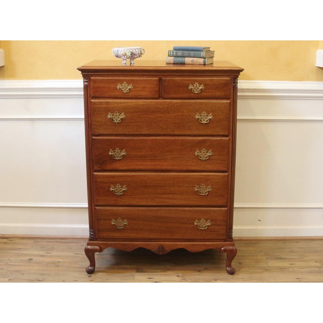 separation shoes d6d2a 1830f Vintage Mahogany Tall Chest of Drawers Dresser