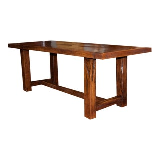 Antique Country French Chestnut Monastery Table