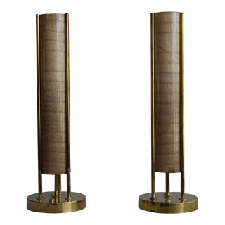 Mid 20th Century Mid Century Sculptural Table Lamps - a Pair For Sale