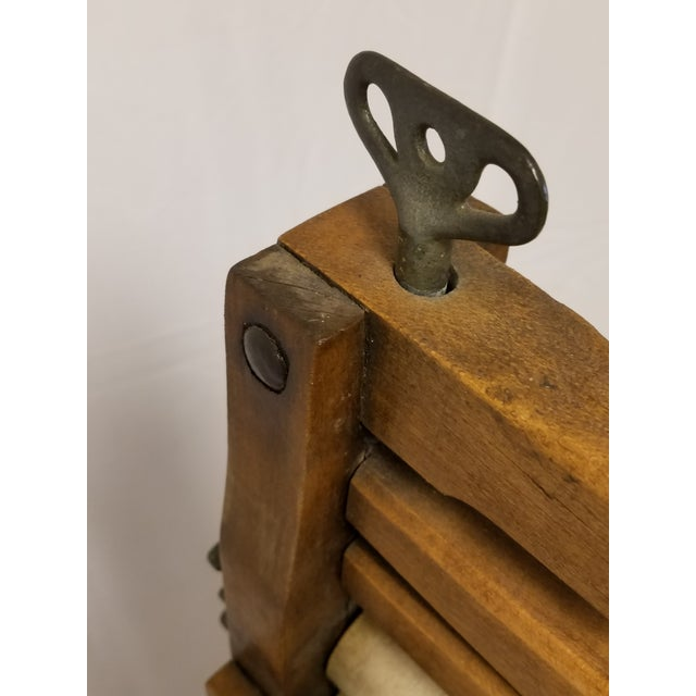 Antique Amish Handmade Hardwood Clothes Wringer For Sale - Image 5 of 7