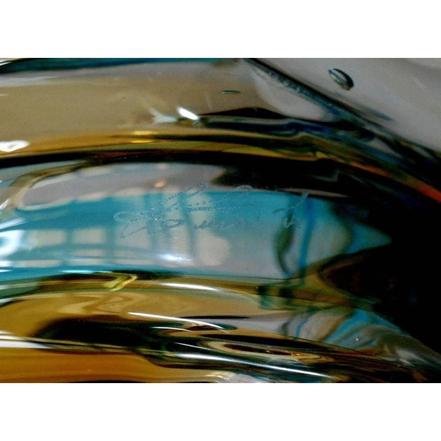 Dolphin on Wave Murano Glass Sculpture by Sergio Costantini For Sale In Palm Springs - Image 6 of 7