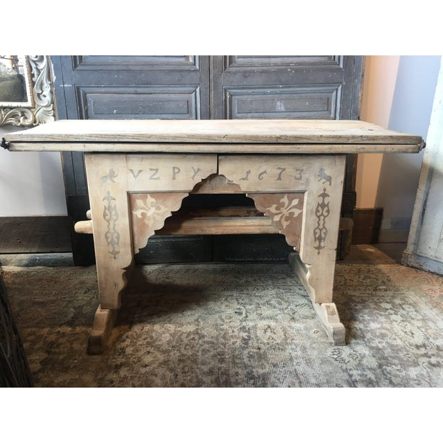Antique Swiss Money Changing Table - Image 5 of 13