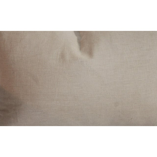 Linen Pendleton Pattern Pillow For Sale - Image 7 of 7