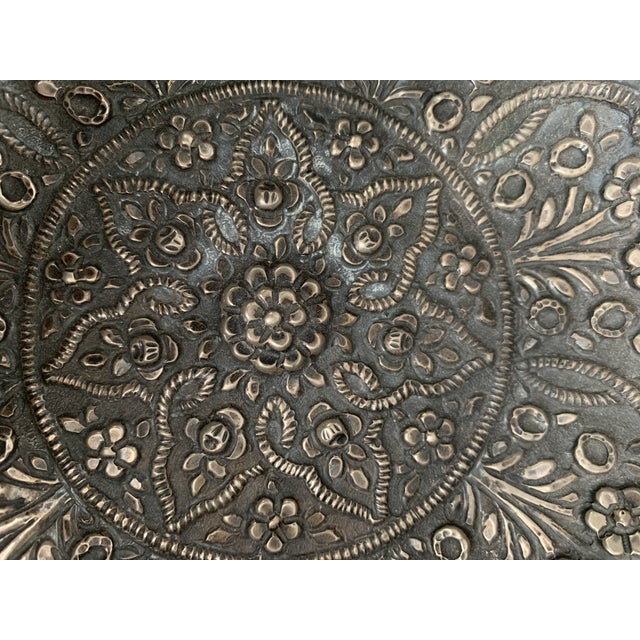 Mid 20th Century Persian Repousse 900 Silver Bowl For Sale - Image 5 of 7