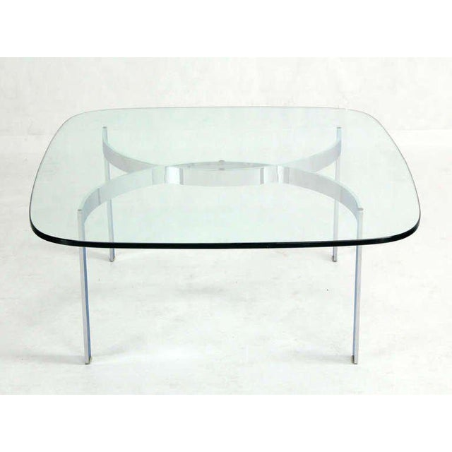 Early 20th Century Mid-Century Modern Chrome and Glass-Top Coffee Table For Sale - Image 5 of 10