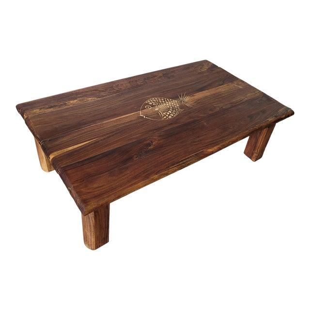 Brazilian Rosewood Indoor/Outdoor Coffee Table For Sale