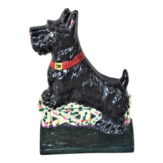Cast Iron Scotty Doorstop For Sale