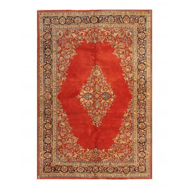 Islamic Pasargad Rust Persian Sarouk Rug - 6' X 8.10 For Sale - Image 3 of 3