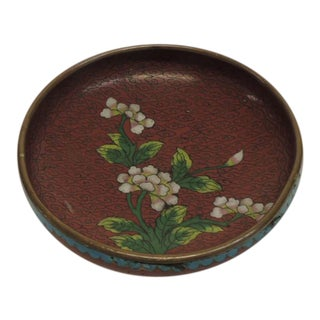Small Floral Brass Cloisonne Dish