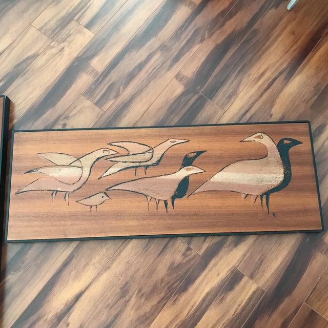 Mid-Century Signed Shadow Box Artwork Set of 3 - Image 5 of 7