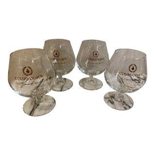 Courvoisier Cognac Advertising Glasses - Set of 4 For Sale