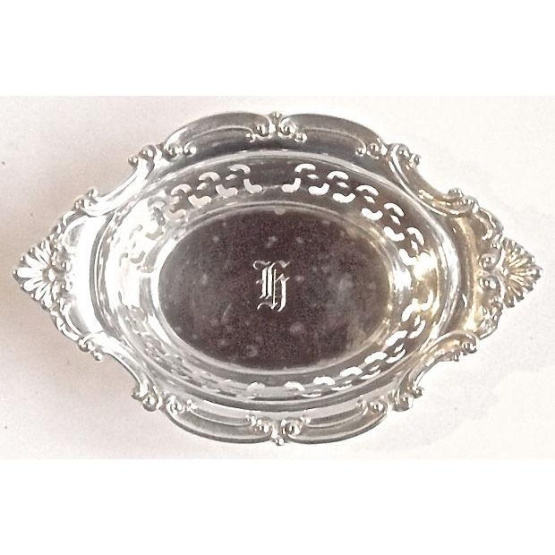 Vintage Sterling Silver Pierced Nut Dish - Image 2 of 6