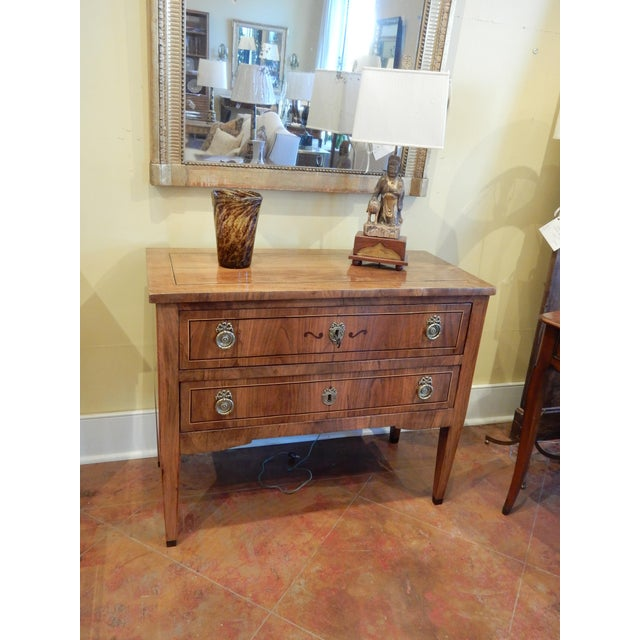 Late 19th C Italian Walnut Louis XVI Commode For Sale In New Orleans - Image 6 of 7