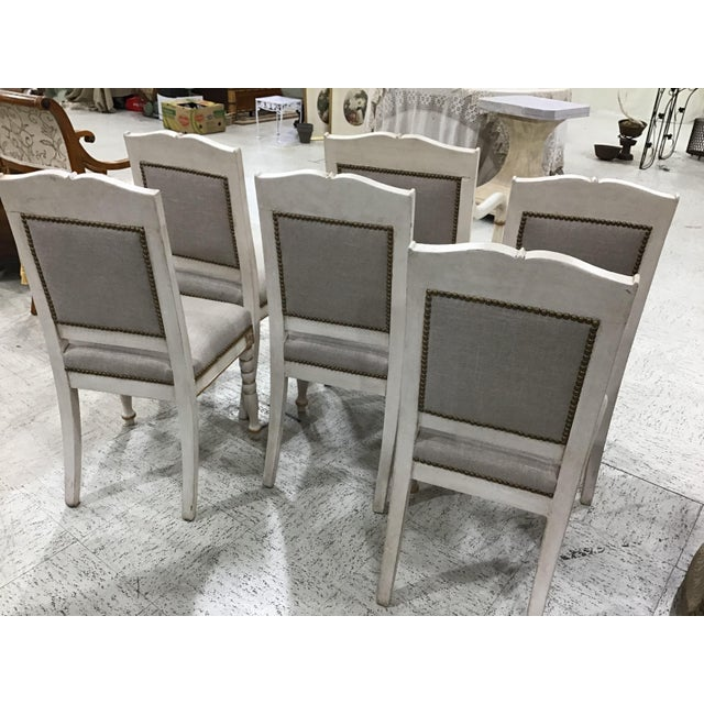 White Set of 6 19th Century French Empire Chairs For Sale - Image 8 of 10